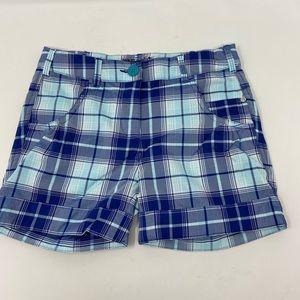 Nike Golf Dri Fit Plaid Athletic Shorts Womens S